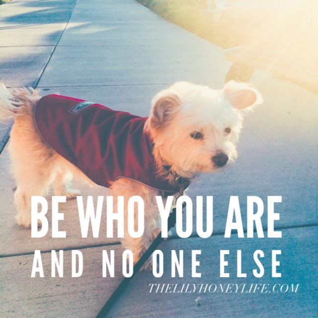 be who you are {thelilyhoneylife}