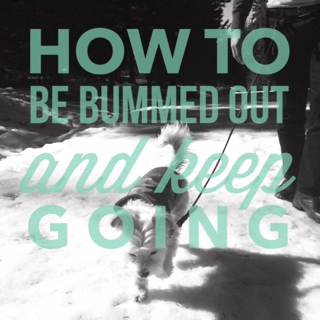 how to be bummed out and keep going {thelilyhoneylife}