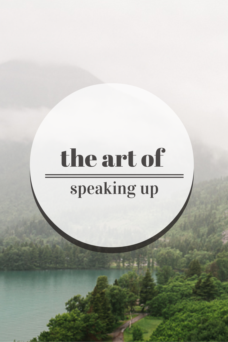 the art of speaking up at meetings {thelilyhoneylife}