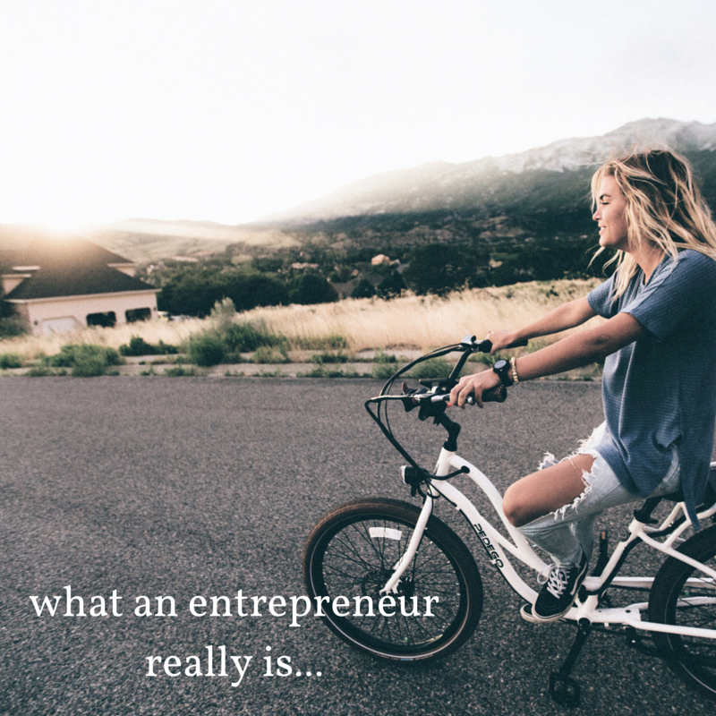what an entrepreneur really is...